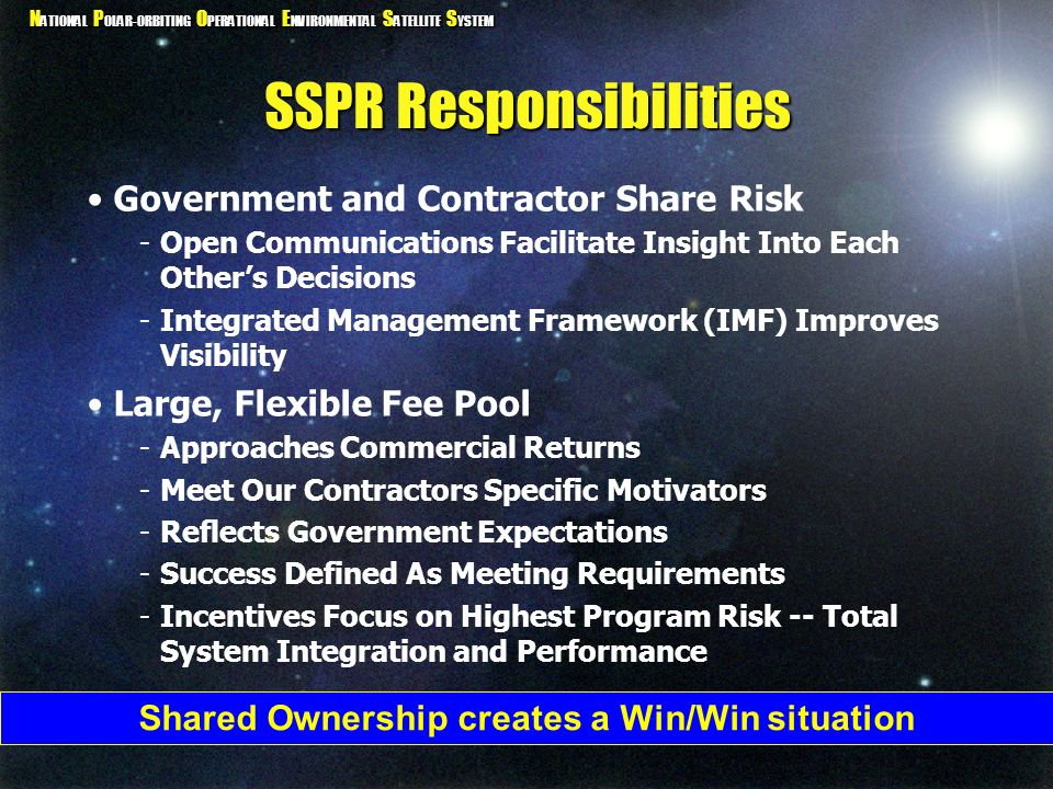 SSPR Responsibilities