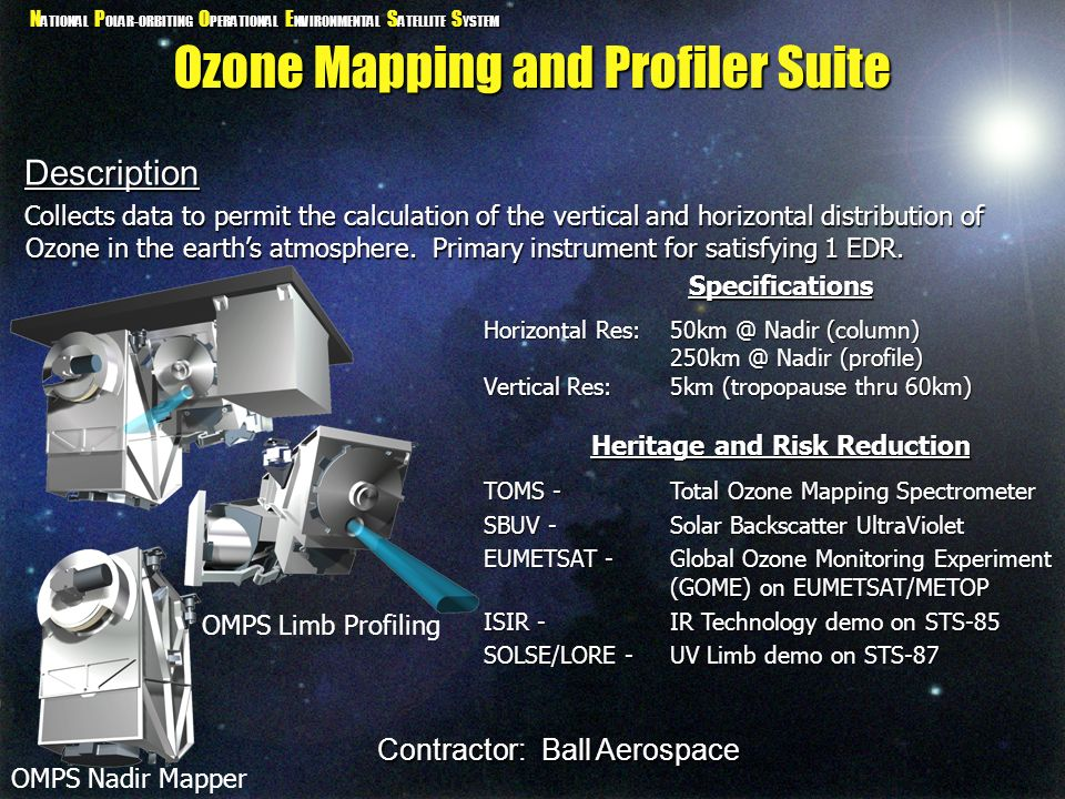 Ozone Mapping and Profiler Suite