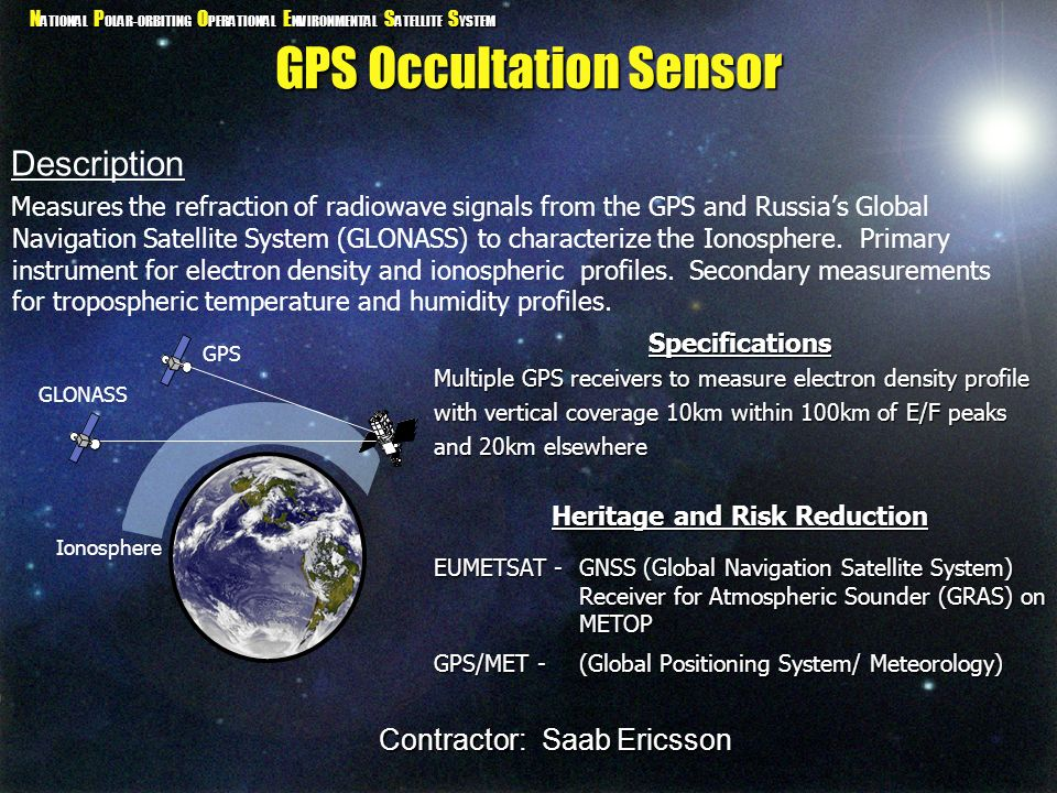 GPS Occultation Sensor