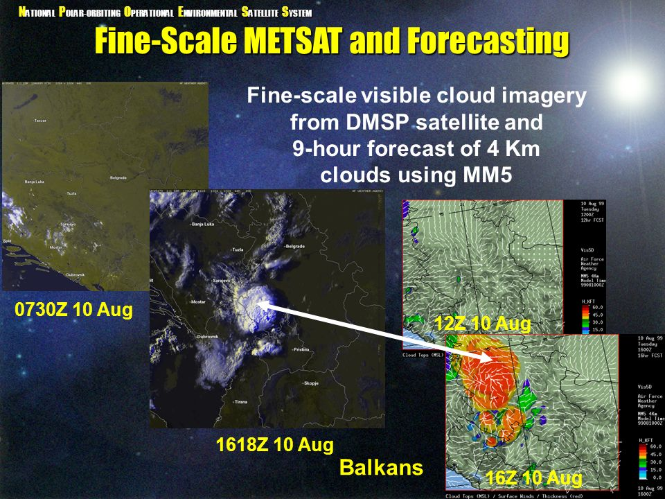 Fine-scale visible cloud imagery from DMSP satellite and