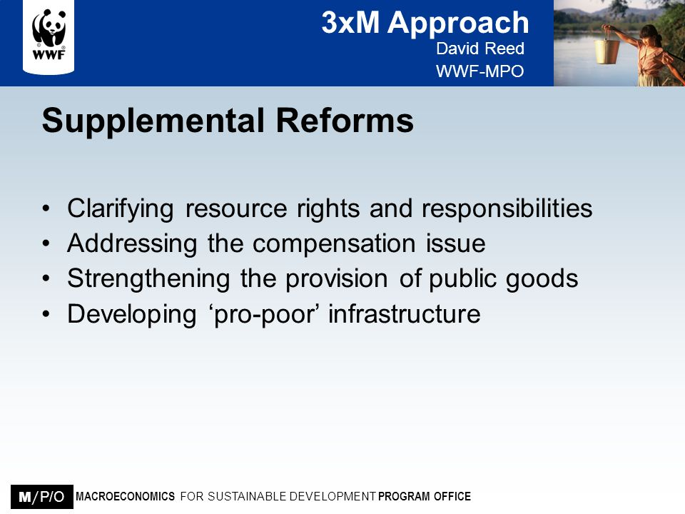 Supplemental Reforms Clarifying resource rights and responsibilities