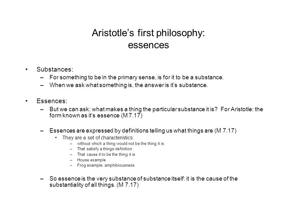 aristotle s definition of substance Does aristotle's view that substance is form or essence make him a platonist most commentators think not, but for different reasons.