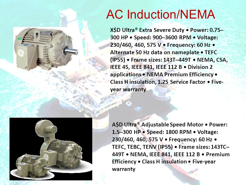 Motors Product Line Nema Premium Is A Trademark Of Nema