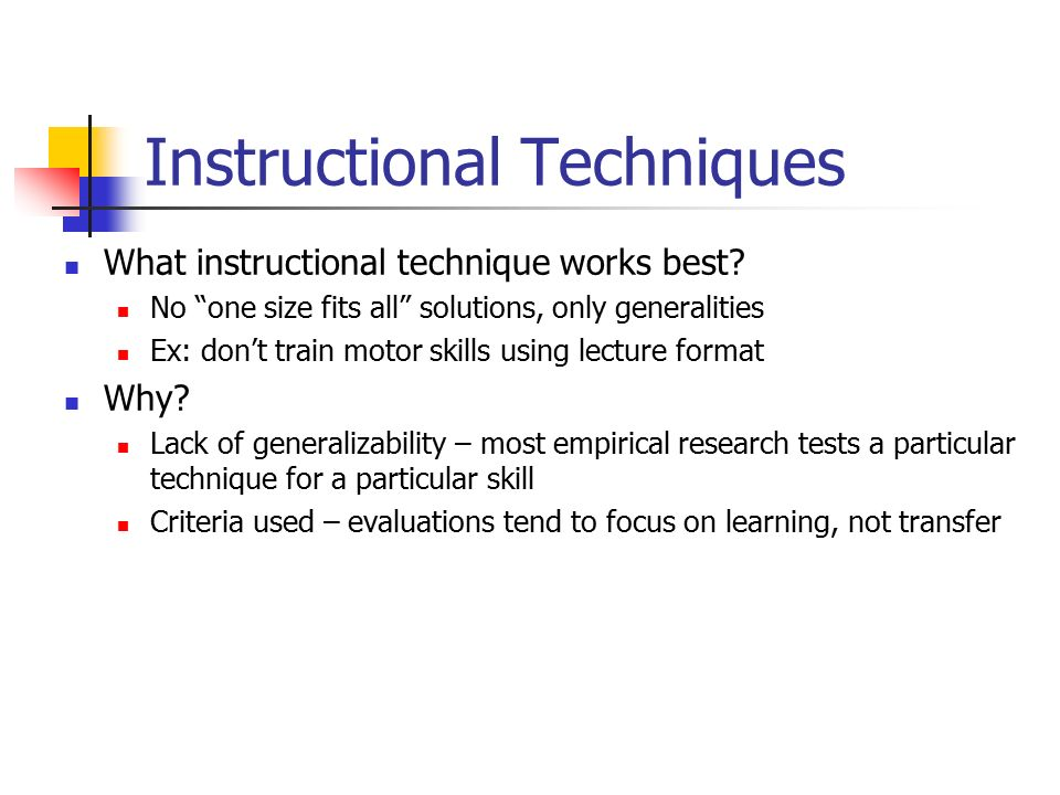 instructional methods used in training