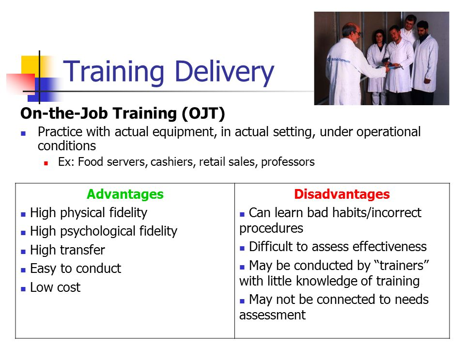 training ojt trainers how to Designing and implementing training programs  course, trainers monitor learner progress and satisfaction to identify where they may need to make adjustments to.