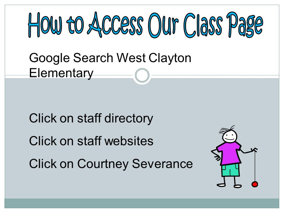 How to Access Our Class Page