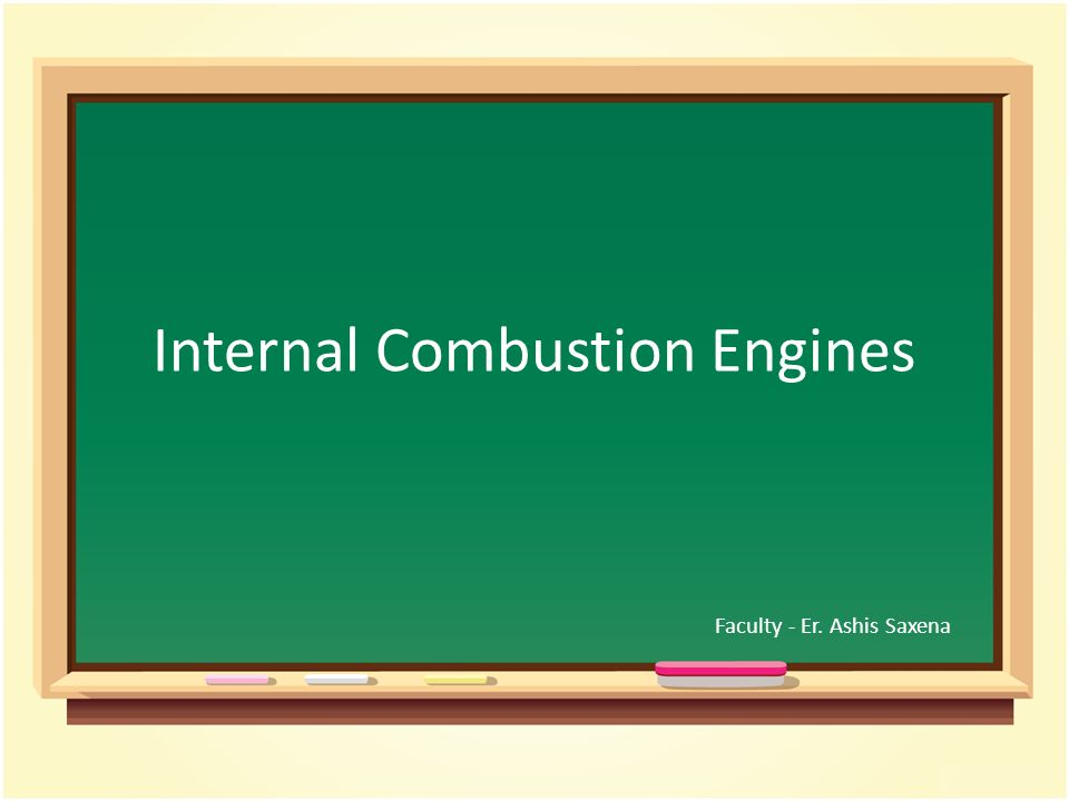 an introduction to the internal combustion engine Definition of internal combustion engine - an engine which generates motive power by the burning of petrol, oil, or other fuel with air inside the engine, the hot gases prod.