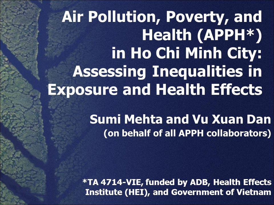 Sumi Mehta and Vu Xuan Dan (on behalf of all APPH collaborators)