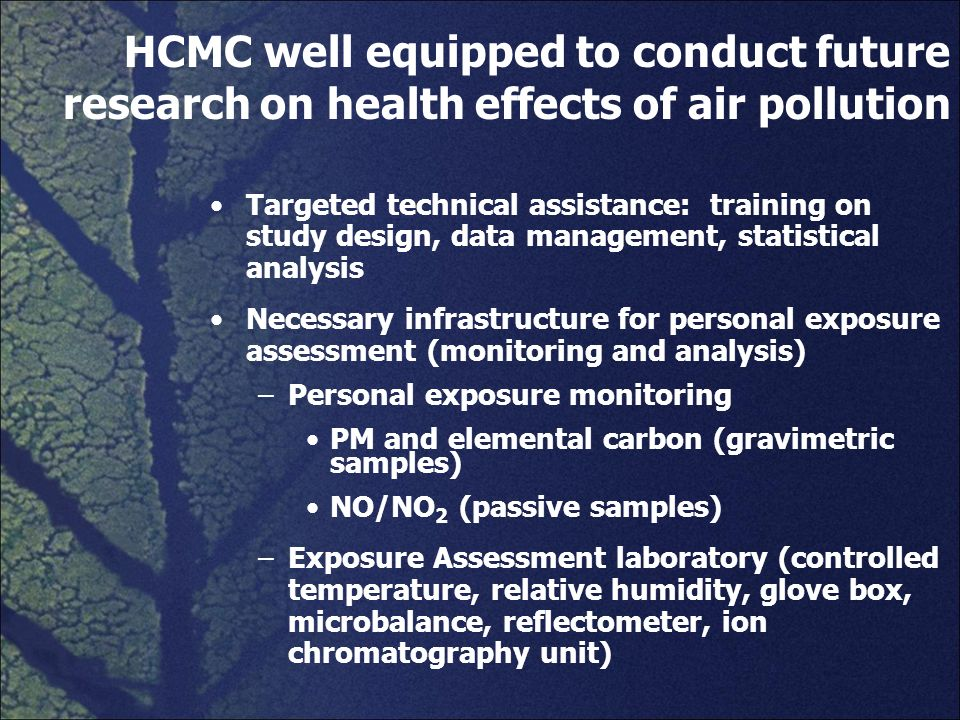 HCMC well equipped to conduct future research on health effects of air pollution