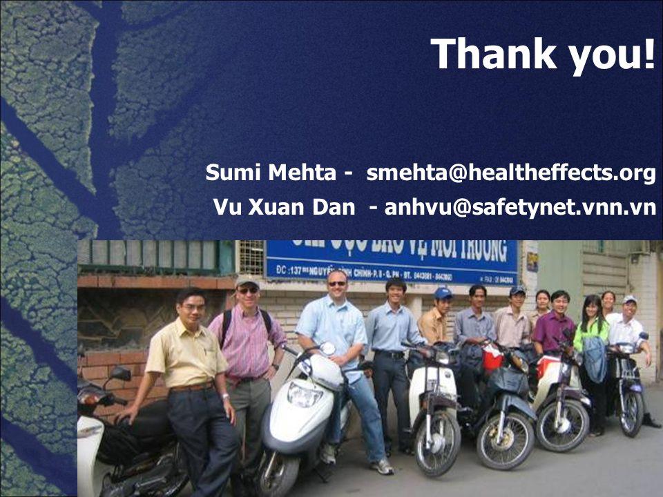 Thank you! Sumi Mehta - smehta@healtheffects.org