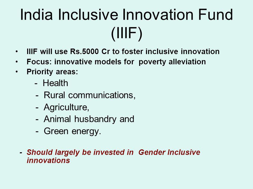 India Inclusive Innovation Fund (IIIF)