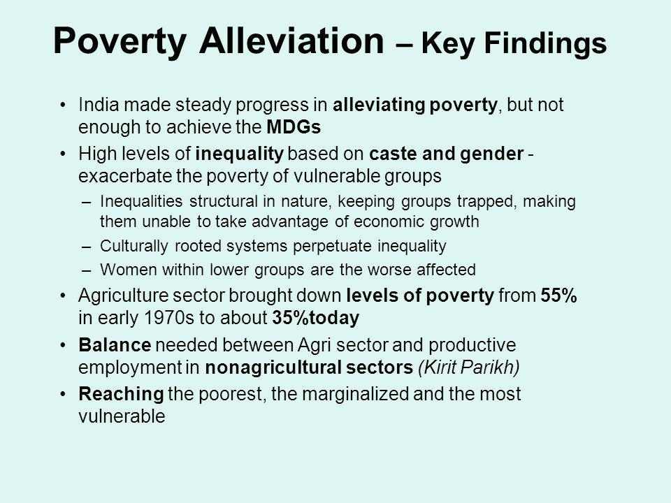 Poverty Alleviation – Key Findings