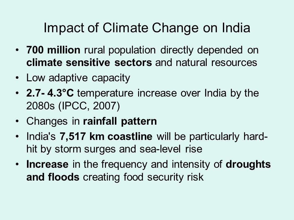 Impact of Climate Change on India