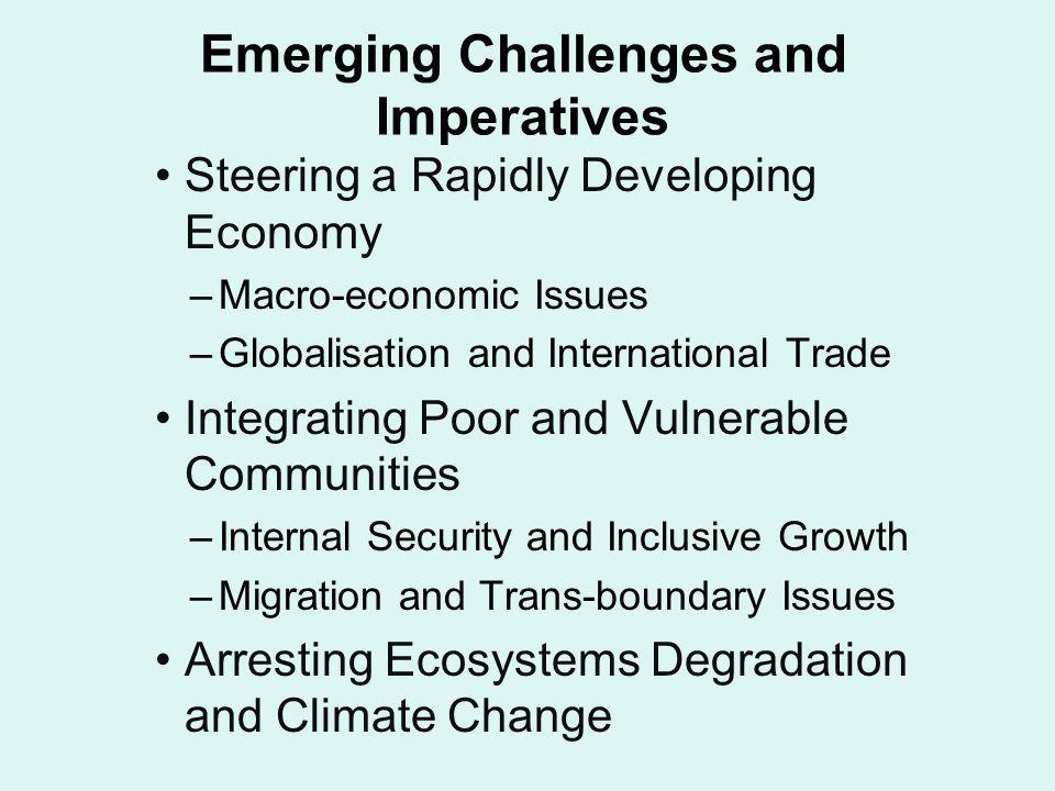 Emerging Challenges and Imperatives