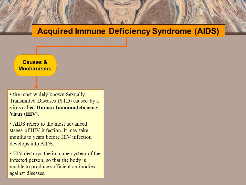 a report on acquired immune deficiency syndrome This report summarizes results of surveillance for the acquired immune deficiency syndrome (aids) in the united states by the centers for disease control through the first quarter of 1983.