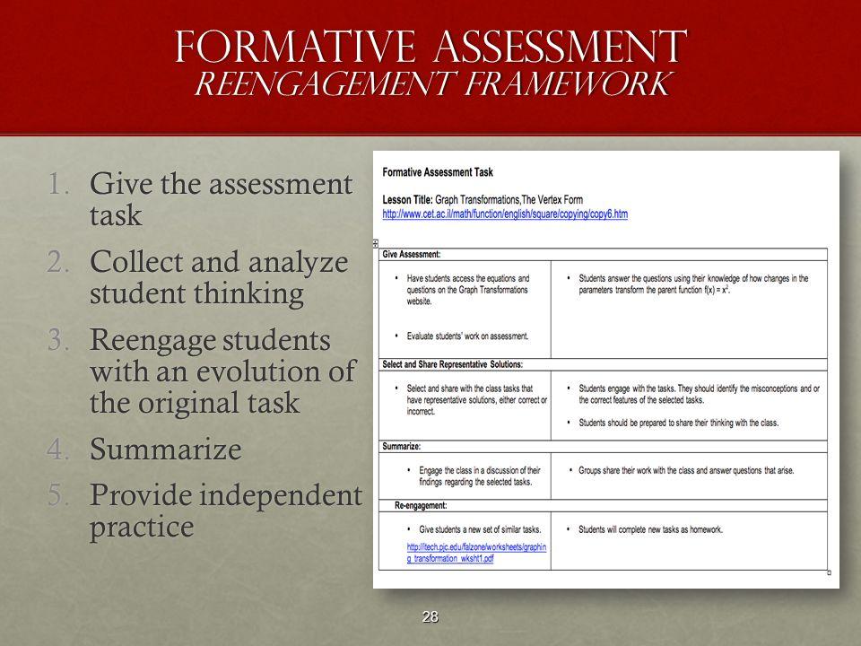 Formative Assessment Reengagement Framework