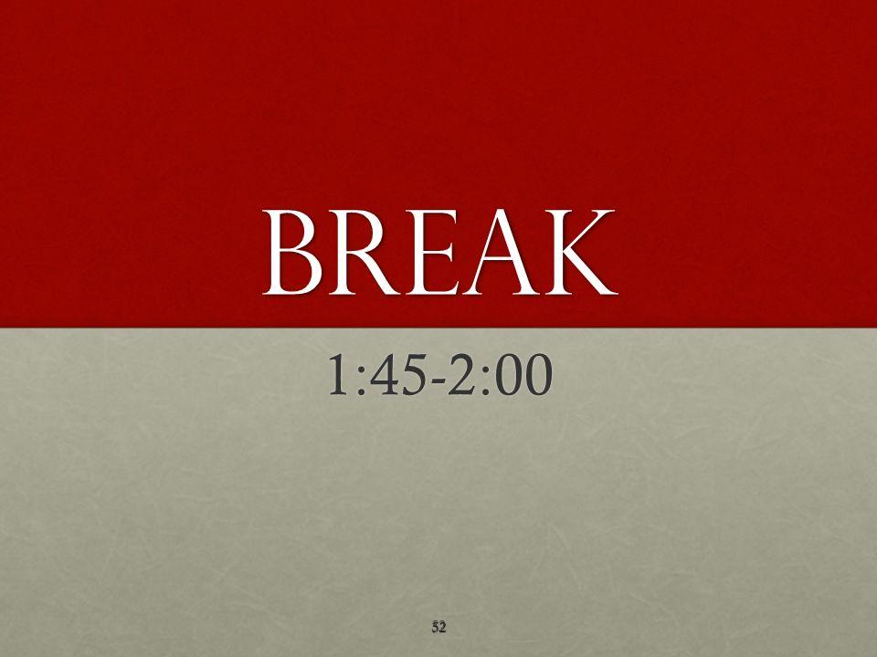 BREAK 1:45-2:00
