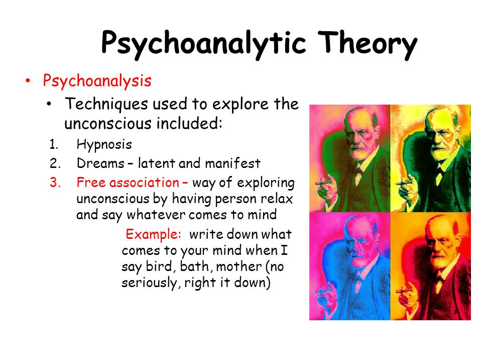 psychoanalytical approach The various approaches in treatment called psychoanalytic vary as much as the  different theories do in addition, the term refers to a method of studying the.