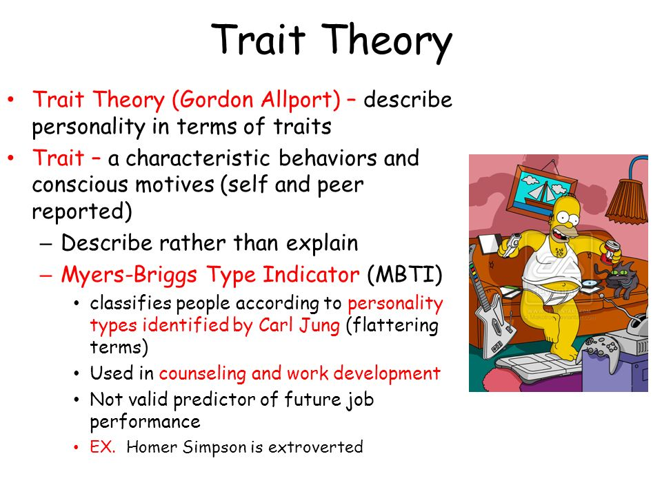 traits approach A question has been posed about the efficacy of using factor analysis as an approach to identifying individual traits.