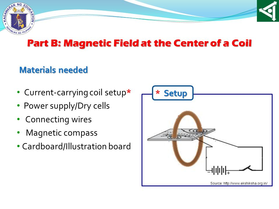 Part B: Magnetic Field at the Center of a Coil