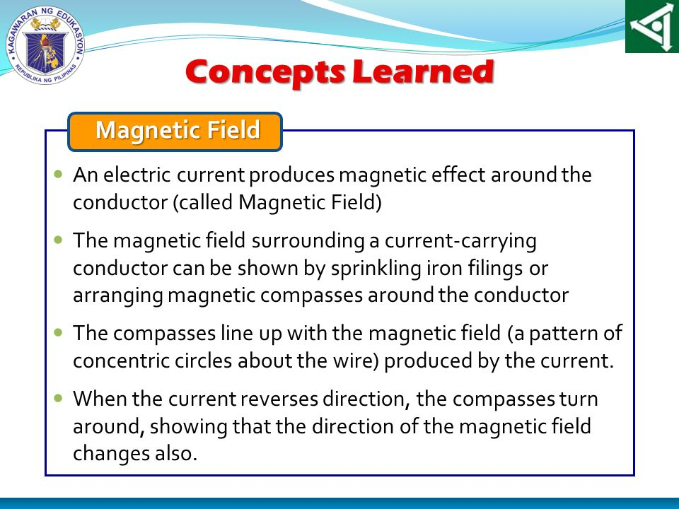 Concepts Learned Magnetic Field