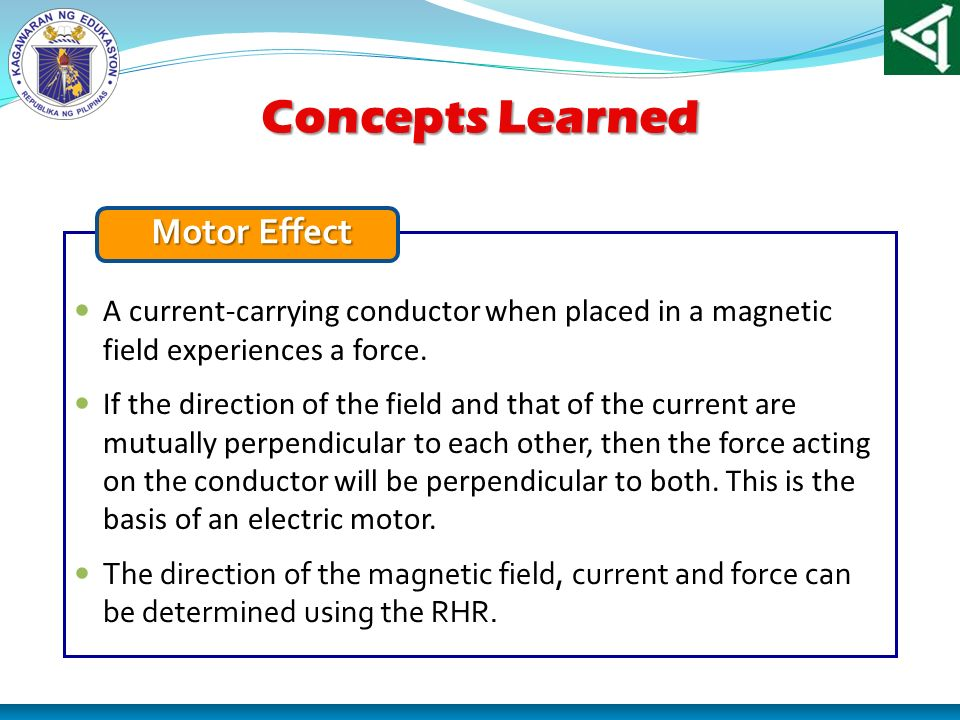 Concepts Learned Motor Effect