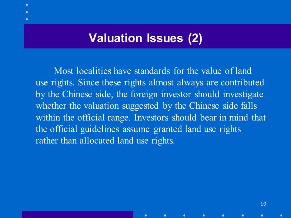 Valuation Issues (2)