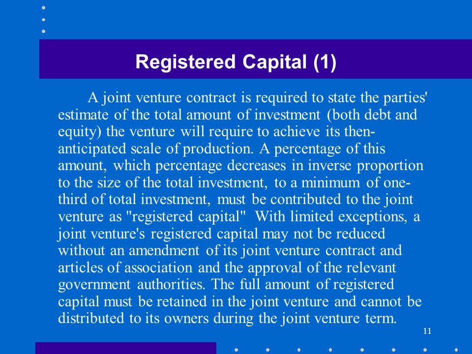 Registered Capital (1)