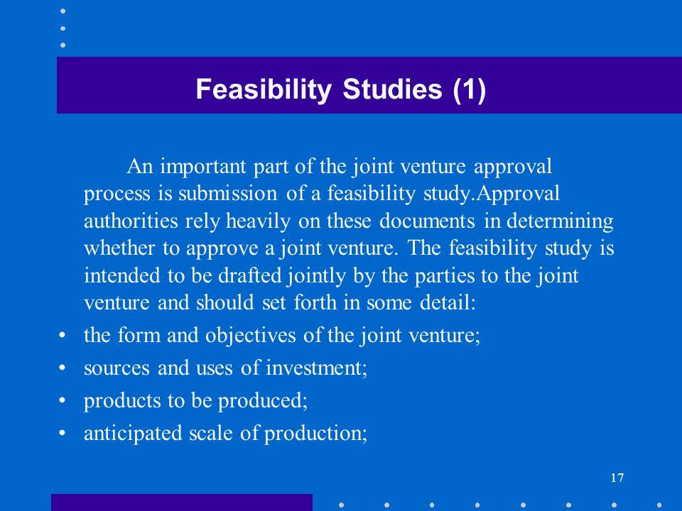 Feasibility Studies (1)