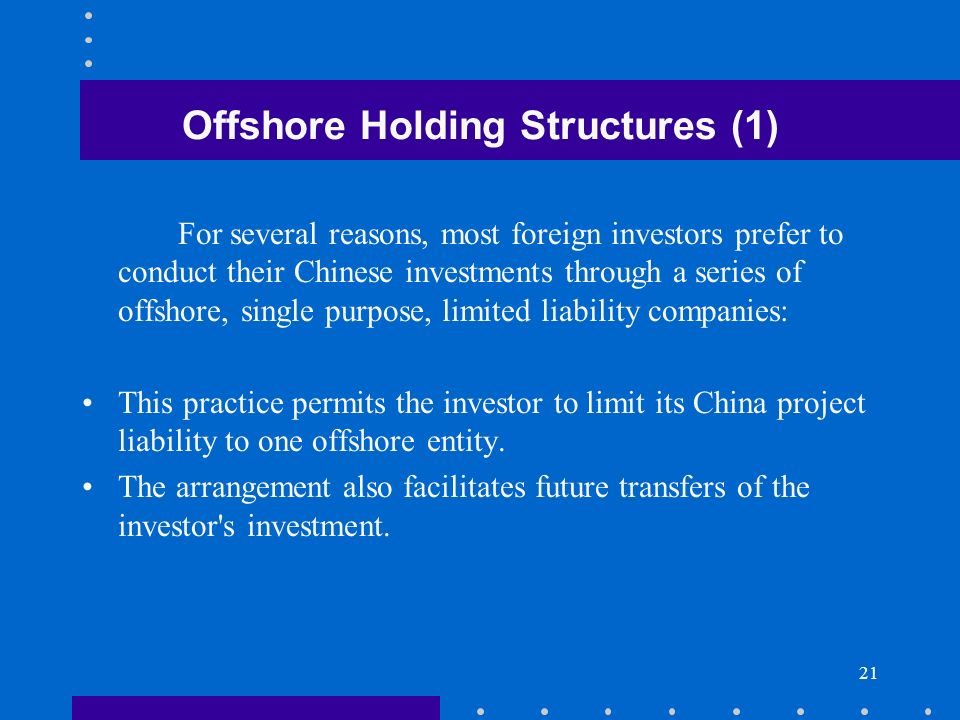 Offshore Holding Structures (1)
