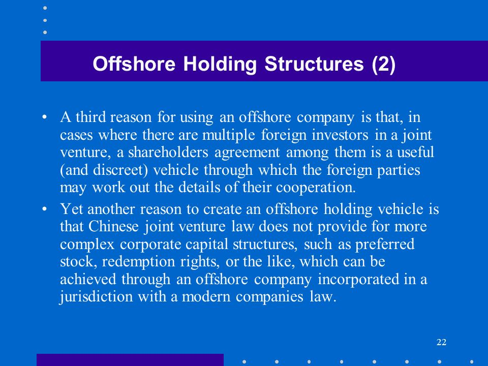 Offshore Holding Structures (2)