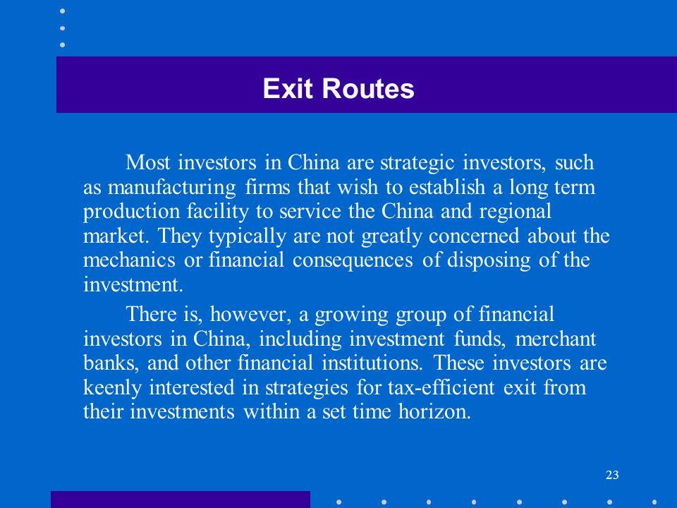 Exit Routes