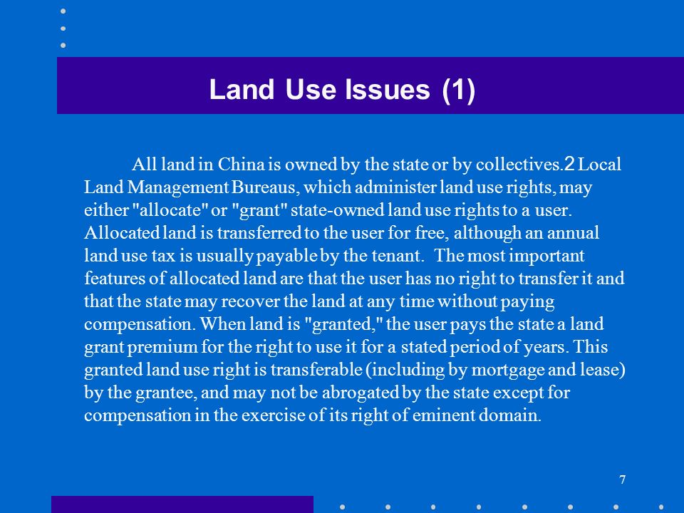 Land Use Issues (1)