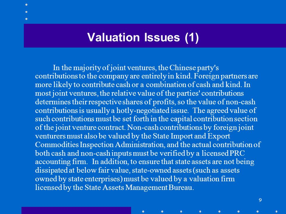 Valuation Issues (1)