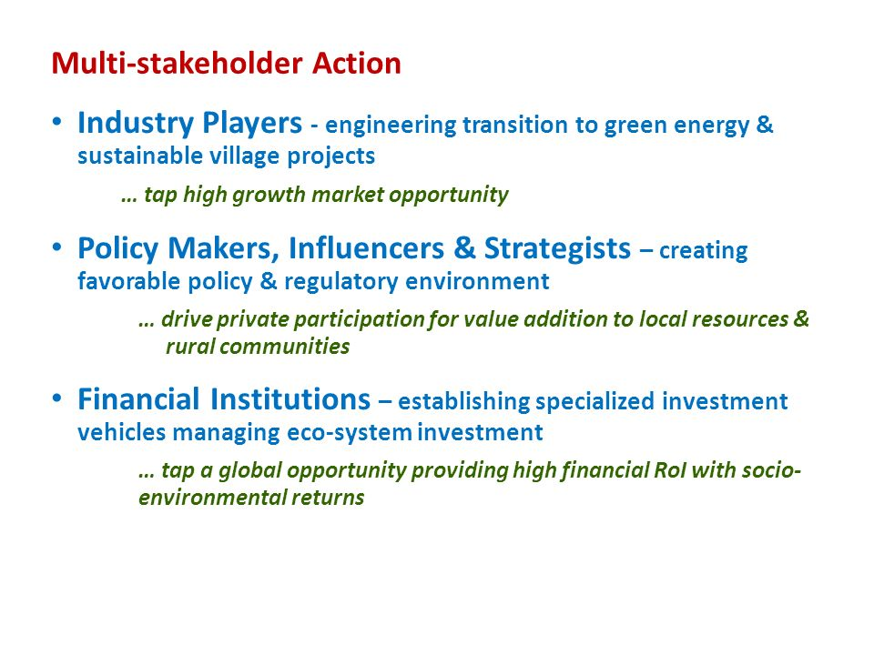 Multi-stakeholder Action