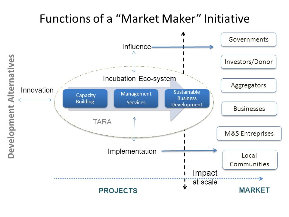 Functions of a Market Maker Initiative