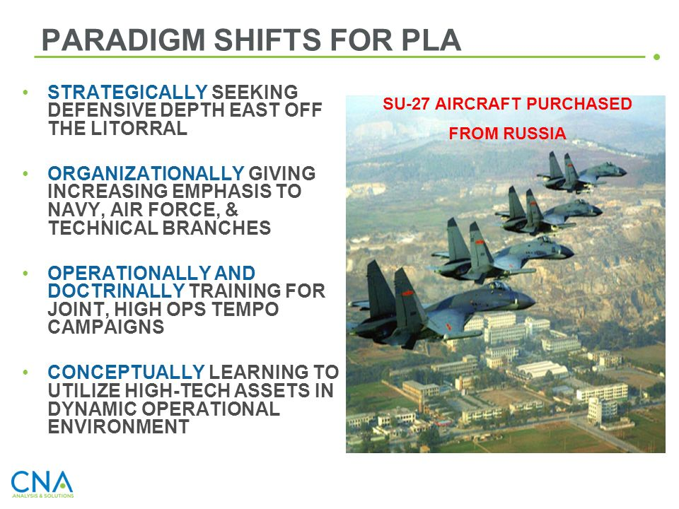 PARADIGM SHIFTS FOR PLA