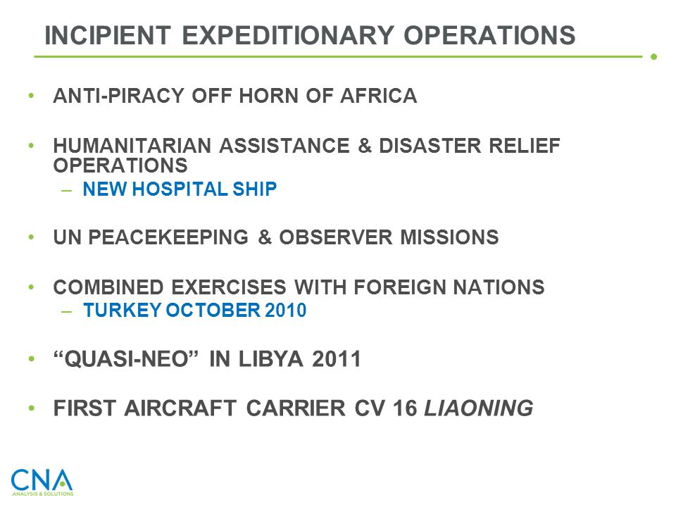 INCIPIENT EXPEDITIONARY OPERATIONS