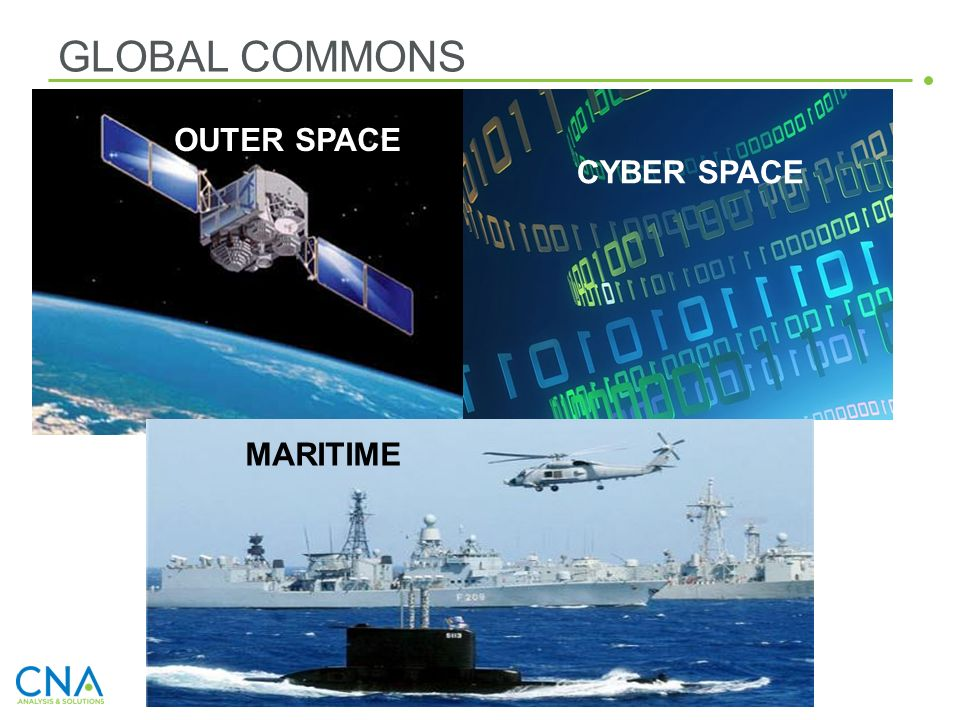 GLOBAL COMMONS OUTER SPACE CYBER SPACE MARITIME