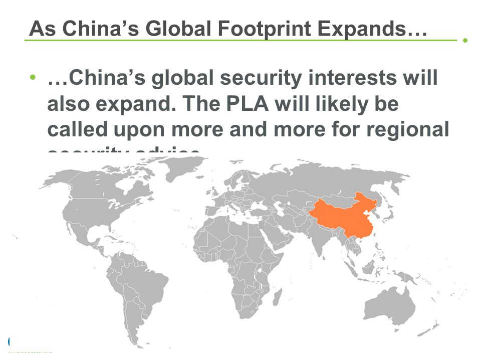 As China's Global Footprint Expands…