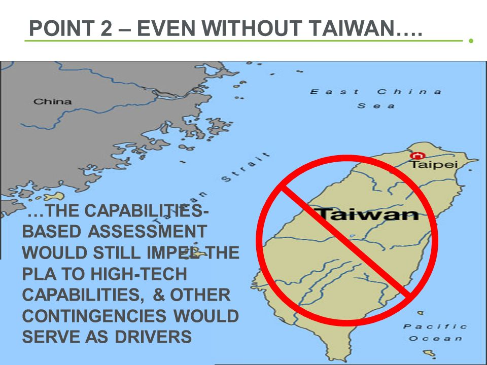 POINT 2 – EVEN WITHOUT TAIWAN….