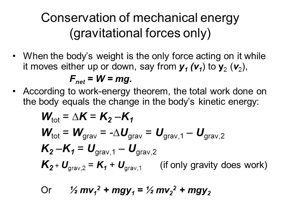 Law Of Conservation Me... Formula Of Mechanical Energy