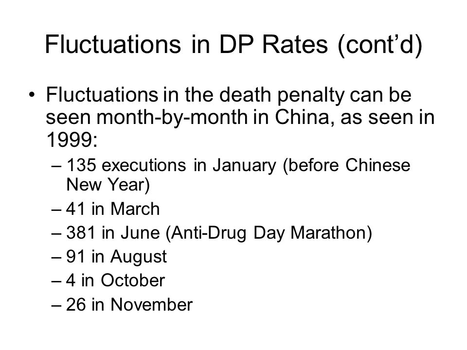 Fluctuations in DP Rates (cont'd)