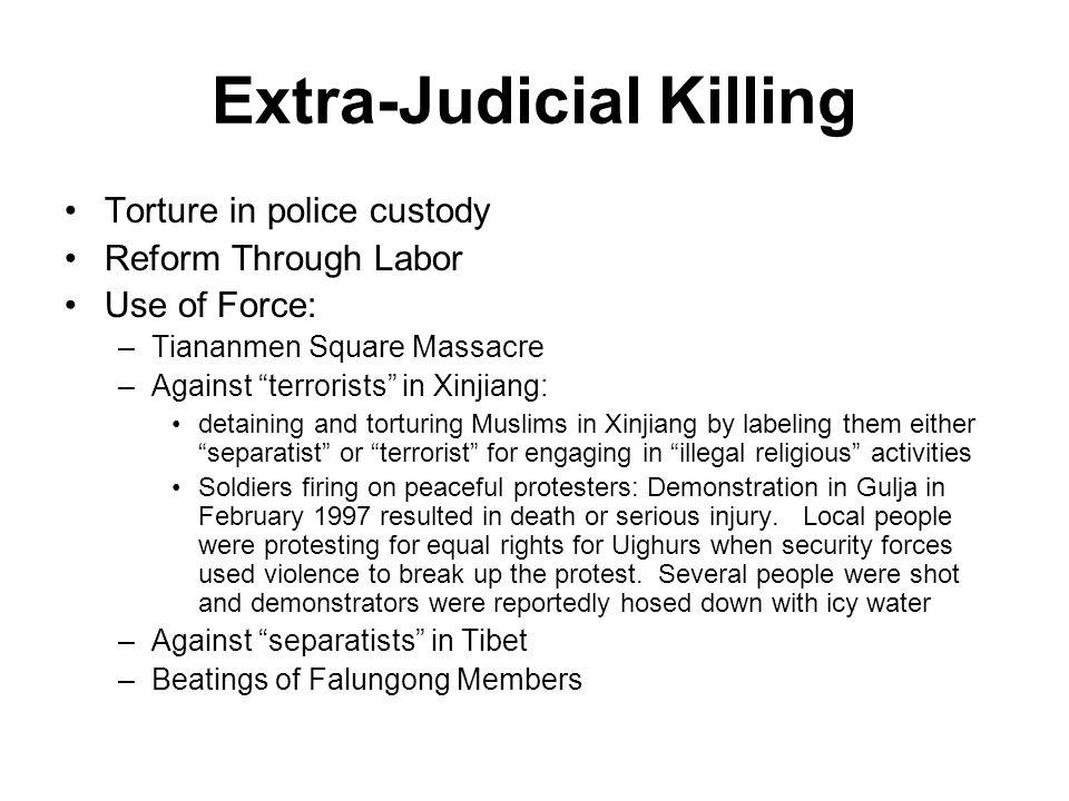 Extra-Judicial Killing