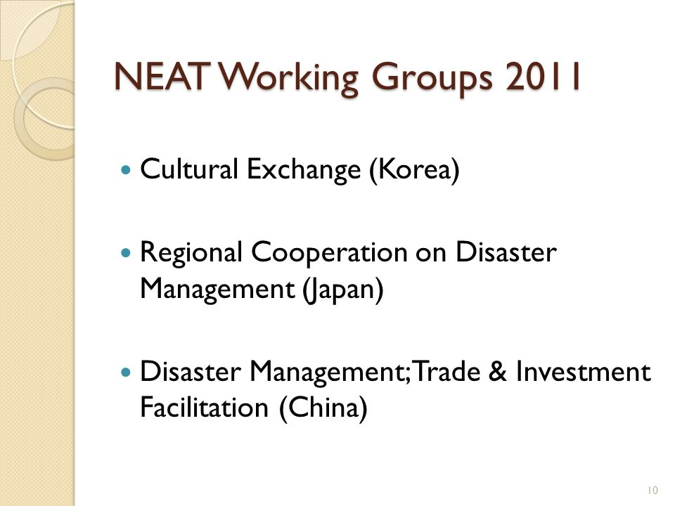 NEAT Working Groups 2011 Cultural Exchange (Korea)