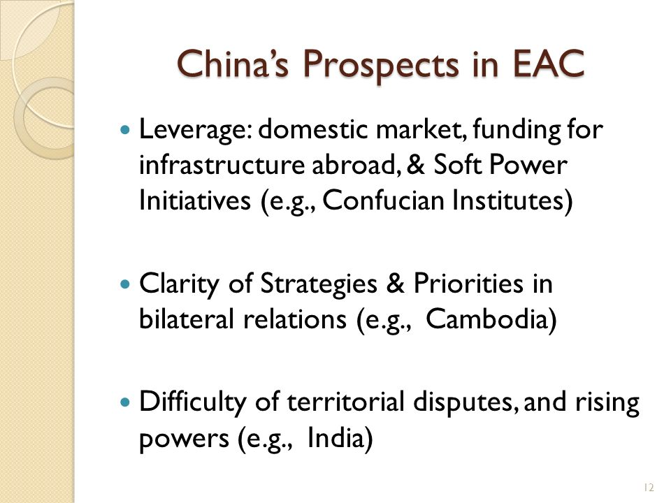 China's Prospects in EAC
