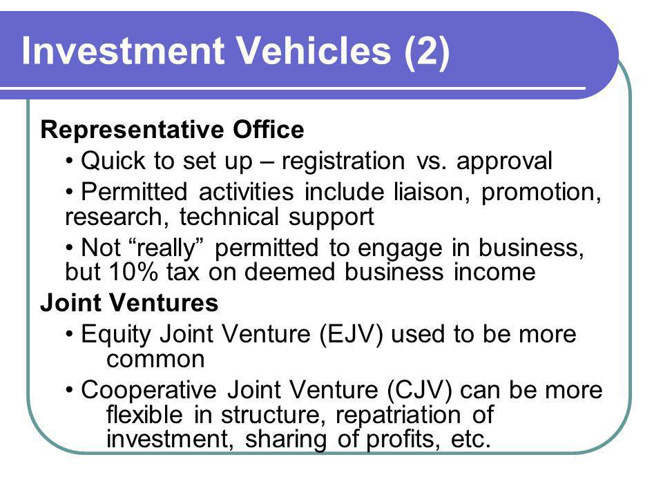 Investment Vehicles (2)