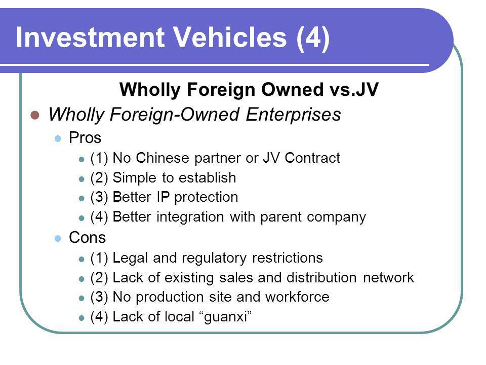 Investment Vehicles (4)