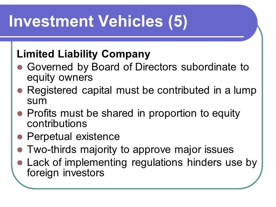 Investment Vehicles (5)