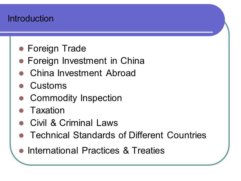 Foreign Investment in China China Investment Abroad Customs